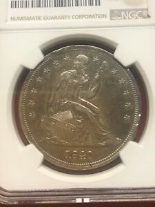 1840 LIBERTY SEATED SILVER $1 NGC AU DETAILS CLEANED; ONE OF THE EARLIEST SL $1