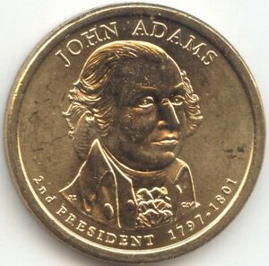 2007 JOHN ADAMS PRESIDENTIAL DOLLAR DOUBLE EDGE LETTERING ERROR CHOICE BU