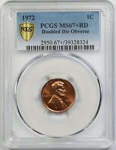 Click now to see the BUY IT NOW Price! 1972 DDO DOUBLED DIE OBVERSE 1C PCGS MS 67   RD LINCOLN MEMORIAL PENNY POP  5/1