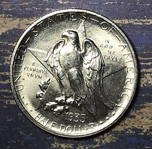1935 TEXAS COMMEMORATIVE SILVER HALF DOLLAR