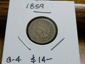 1859 INDIAN HEAD CENT  1ST YEAR    GOOD CONDITION
