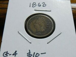 1863 INDIAN HEAD CENT  COPPER/NICKEL    GOOD CONDITION