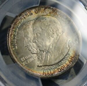 Click now to see the BUY IT NOW Price! 1923 S MONROE SILVER COMMEMORATIVE HALF DOLLAR COIN PCGS MS66