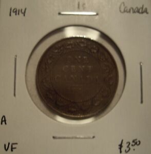 A CANADA GEORGE V 1914 LARGE CENT   VF