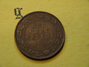1918 CANADA LARGE CENT COIN  CANADIAN ONE
