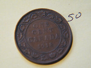 1918 CANADA CANADIAN LARGE CENT COIN  CANADIAN ONE CENY
