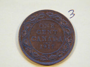1917  CANADA CANADIAN LARGE CENT COIN  CANADIAN ONE CENT