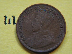 1916  CANADA CANADIAN LARGE CENT COIN  CANADIAN ONE CENT