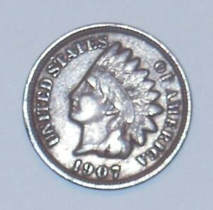 1907 INDIAN HEAD PENNY 130