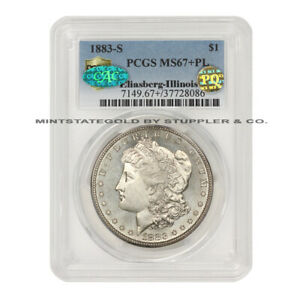Click now to see the BUY IT NOW Price! 1883 S $1 SILVER MORGAN PCGS MS67 PL CAC PQ APPROVED ILLINOIS SET PROOF LIKE