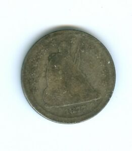 1877 S LIBERTY SEATED QUARTER CIRCULATED