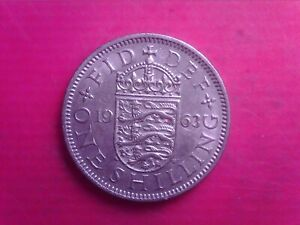 GREAT BRITAIN ONE SHILLINGS 1963     SEP05
