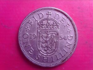 GREAT BRITAIN ONE SHILLINGS 1954     SEP05