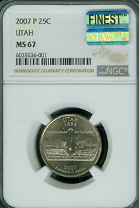 Click now to see the BUY IT NOW Price! 2007 P UTAH QUARTER NGC MAC MS 67 PQ FINEST BUSINESS STRIKE MAC SPOTLESS .
