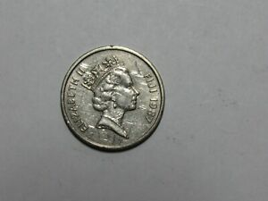 FIJI COIN   1987 20 CENTS   CIRCULATED SCRATCHES