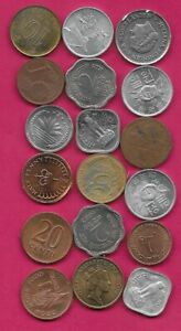 18 WORLD COINS LOTS MIX DATES MIX COUNTRIES 15