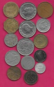 15 WORLD COINS LOTS MIX DATES MIX COUNTRIES 14