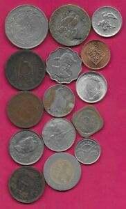 15 WORLD COINS LOTS MIX DATES MIX COUNTRIES 12