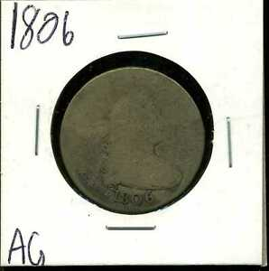 1806 25C DRAPED BUST QUARTER DOLLAR IN AG CONDITION 00323