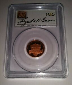 2010 S PCGS PR69RD DCAM LINCOLN SHIELD CENT SIGNED BY DESIGNER LYNDALL BASS NICE