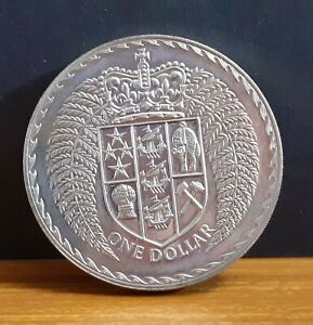 1979 BOXED NEW ZEALAND $1 ONE DOLLAR COIN   CROWNED SHIELD OF NEW ZEALAND