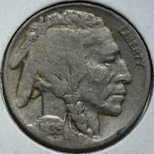 1935 5C BUFFALO NICKEL DDR DOUBLE DIE REVERSE FIVE CENTS CIRCULATED