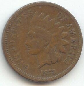 1873 OPEN 3 INDIAN HEAD CENT PROBLEM FREE VG FULL RIMS
