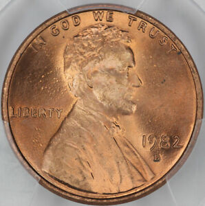 1982 D ZINC LARGE DATE PCGS MS66RD LINCOLN CENT