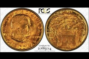 1922 PCGS MS67 GRANT MEMORIAL W/STAR GOLD DOLLAR COMMEMORATIVE