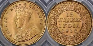 Click now to see the BUY IT NOW Price! INDIA 1918 FIFTEEN RUPEES   PCGS MS65