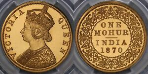 Click now to see the BUY IT NOW Price! INDIA 1870 MATURE BUST MOHUR RESTRIKE   PCGS PR64