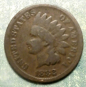 1882 INDIAN HEAD PENNY G GOOD POST CIVIL WAR LOW 38.5 MILL MANY GOOD DATES HERE>