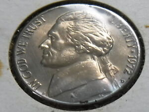 1972 D JEFFERSON NICKEL    BEAUTIFUL UNCIRCULATED TONED