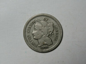 1870 THREE CENT NICKEL