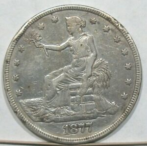 1877 P PHILADELPHIA UNITED STATES TRADE DOLLAR