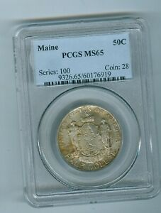MAINE 1920 HALF DOLLAR  PCGS MS 65