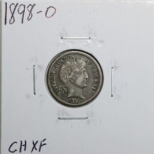 1898 O 10C BARBER LIBERTY HEAD DIME IN CHOICE XF CONDITION 01110