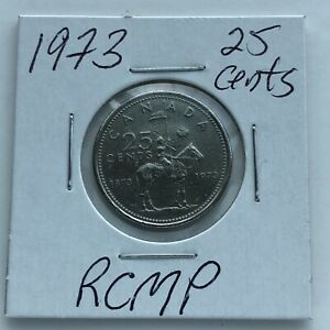 1973 1873 1973 RCMP CANADA 25 CENTS      COMBINED SHIPPING