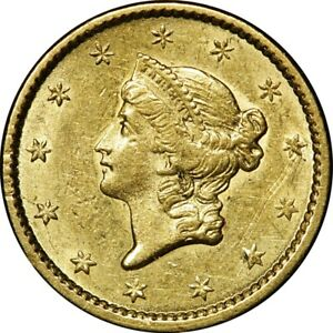 1851 $1 LIBERTY GOLD DOLLAR TYPE 1  OLD COIN   GORGEOUS