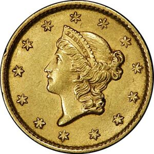1853 $1 LIBERTY GOLD DOLLAR TYPE 1  OLD COIN   GORGEOUS