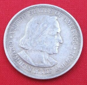 1893 COLUMBIAN EXPOSITION HALF DOLLAR   90  SILVER   CIRCULATED   13120