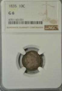 1835 CAPPED BUST DIME NGC G06