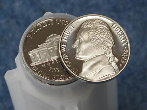 2003 S PROOF JEFFERSON NICKEL DEEP CAMEO ROLL OF 40 COINS