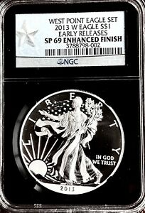 WEST POINT 69 NGC WALKING LIBERTY SILVER DOLLAR AMAZING CONDITION  2013 EAGLE 1$
