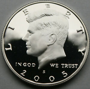 2005 S KENNEDY HALF DOLLAR 90  SILVER PROOF CAMEO NICE NO PROBLEM COIN
