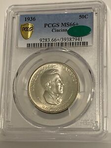 Click now to see the BUY IT NOW Price! 1936 CINCINNATI 50C COMMEMORATIVE HALF DOLLAR PCGS CAC MS66