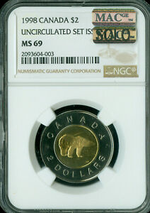 Click now to see the BUY IT NOW Price! 1998 CANADA $2 TOONIES NGC MS69 PQ MAC SOLO FINEST SPOTLESS  .