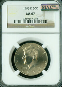 Click now to see the BUY IT NOW Price! 1995 D KENNEDY HALF DOLLAR NGC MS67 PQ MAC SPOTLESS .