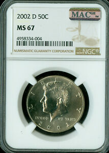 Click now to see the BUY IT NOW Price! 2002 D KENNEDY HALF DOLLAR NGC MAC MS 67 PQ ONLY 4 FINER  SPOTLESS  .