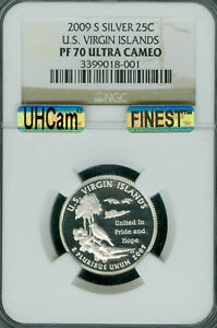 Click now to see the BUY IT NOW Price! 2009 S U.S. VIRGIN ISLANDS SILVER 25C  NGC PF 70 UHCAM MAC FINEST MAC SPOTLESS .